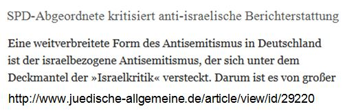 Israelkritik antisemitische SPD