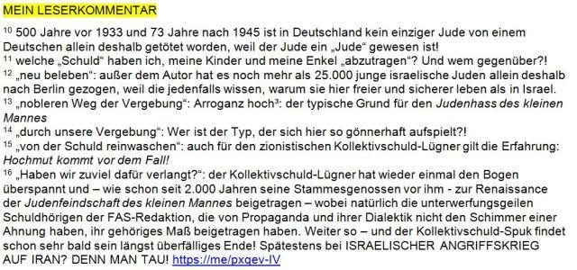 Kollektivschuld-Lügner Berlin Anmerkungen