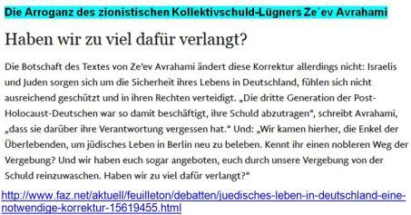 Kollektivschuld-Lügner Berlin