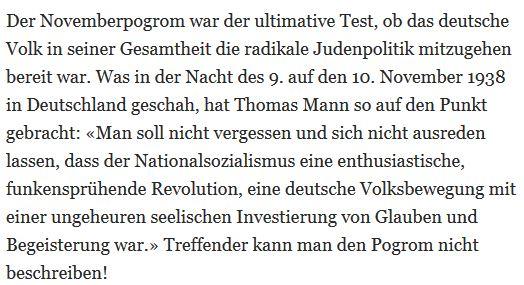 KSL Novemberpogrom Thomas Mann Täter Volk