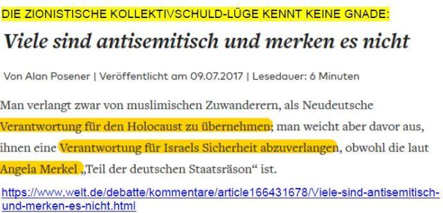Posener zionistische Kollektivschuld-Lüge